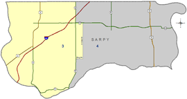 Sarpy county court color map