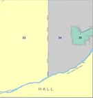 Hall county color map